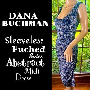 🆕DANA BUCHMAN▪️Sleeveless Ruched Abstract Dress
